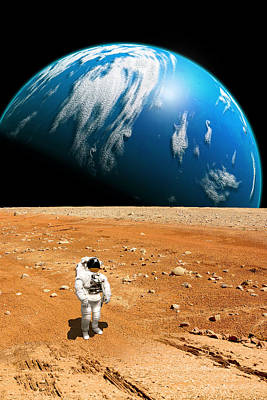 Exoplanet Mixed Media - Marooned No.6v  by Marc Ward
