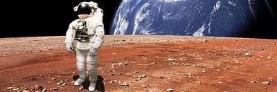 Exoplanet Mixed Media - Marooned No.8pano by Marc Ward