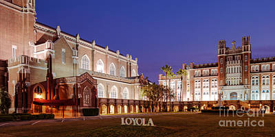 Marquette Hall And Holy Name Of Jesus Catholic Church At Loyola University New Orleans Louisiana Print by Silvio Ligutti