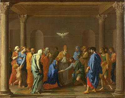 Nicolas Poussin Painting - Marriage by Nicolas Poussin
