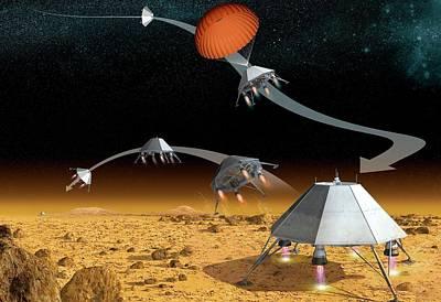 Mars Hopper Spacecraft Print by Claus Lunau