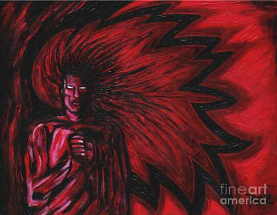 Roz Barron Abellera Painting - Mars Rising by Roz Abellera Art