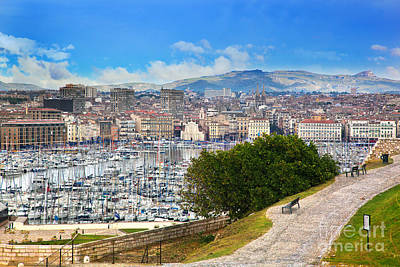 Bay Photograph - Marseille France Panorama by Michal Bednarek