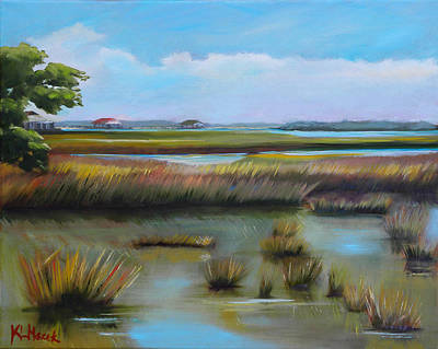 Painting - Marsh At Yellow Bluff by Karen Macek