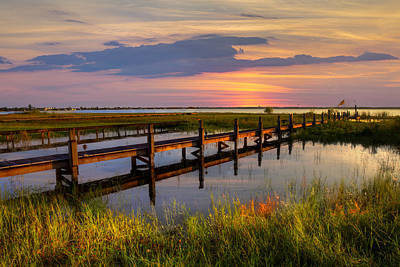 Marsh Harbor Print by Debra and Dave Vanderlaan