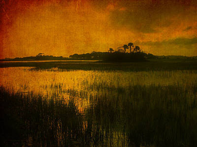 Abstract Beach Landscape Photograph - Marsh Island Sunset by Susanne Van Hulst