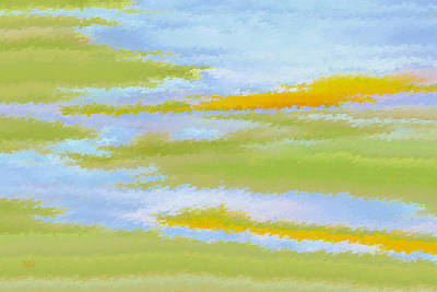 Digital Fine Art Digital Art - Marsh Landscape by Ben and Raisa Gertsberg