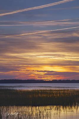 Marsh Sunset Print by Phill Doherty