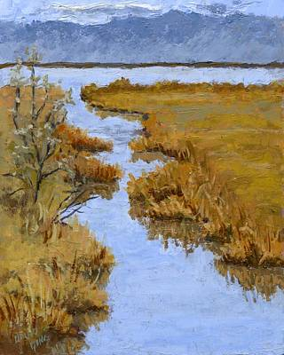 Impressionism Painting - Marsh View by David King