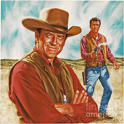 Dillon Painting - Marshall Mat Dillon by Dick Bobnick