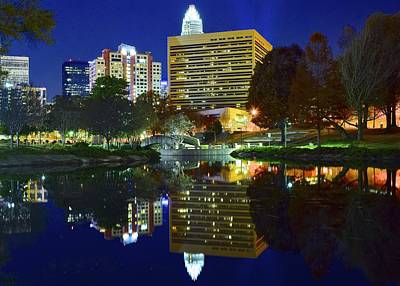 Bobcats Photograph - Marshall Park Reflection by Frozen in Time Fine Art Photography