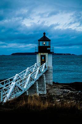 Maine Photograph - Marshall Point Light At Dusk 1 by David Smith