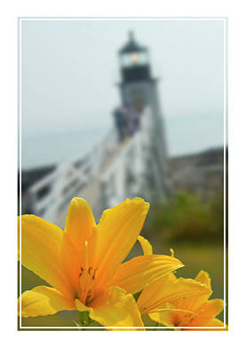 Atlantic Coast Digital Art - Marshall Point Lighthouse  by Mike McGlothlen