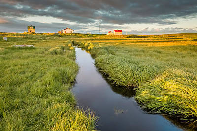 Marshland And Summer Houses, Flatey Print by Panoramic Images