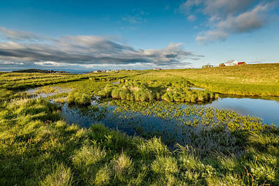Marshlands And Summer Houses, Flatey Print by Panoramic Images
