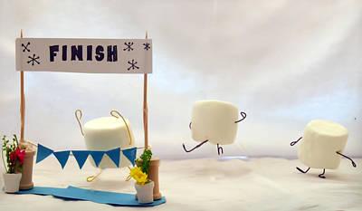 Marshmallow Marathon Print by Heather Applegate