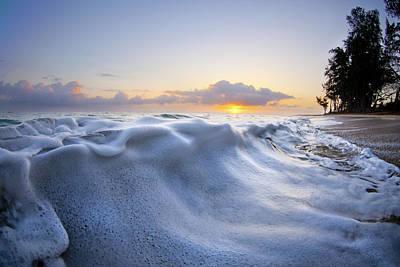 Marshmallow Tide Print by Sean Davey