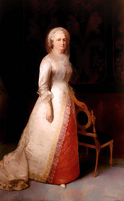 Martha Mary Painting - Martha Dandridge Custis Washington by Mountain Dreams