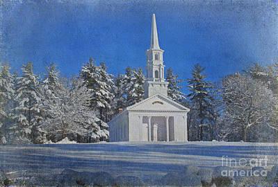 Martha Mary Chapel In Winter Print by Jayne Carney