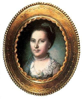American First Lady Painting - Martha Washington, American Patriot by Science Source