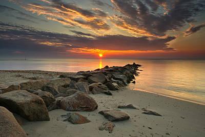 Vineyard Photograph - Marthas Vineyard Sunrise by Darylann Leonard Photography