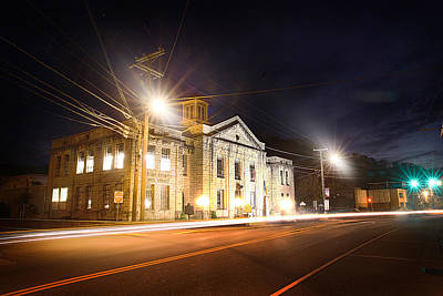 Martin County Courthouse At Night 2 Print by Lisa Sorrell