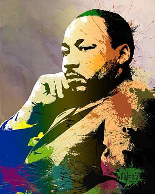 Racism Digital Art - Martin Luther King Jr.  by Anthony Mwangi