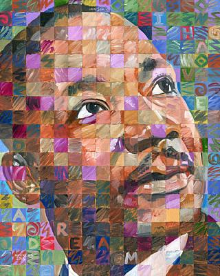 Martin Luther King Jr. - Pop Art Portrait #25 Print by Randal Huiskens