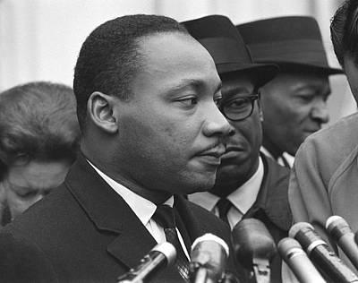 Press Conference Photograph - Martin Luther King, Jr by Warren K. Leffler