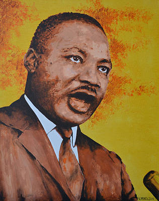 Civil Rights Painting - Martin Luther King by Victor Minca