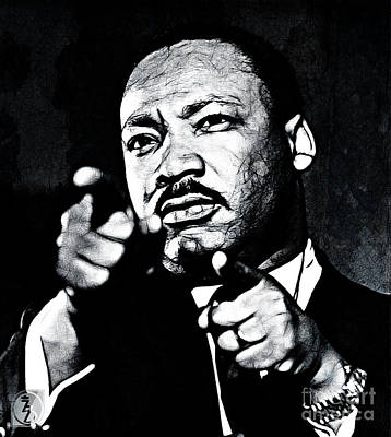 Icon Mixed Media - Martin Luther The King by The DigArtisT