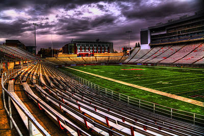 Hdr Photograph - Martin Stadium - Home Of Wsu Football by David Patterson