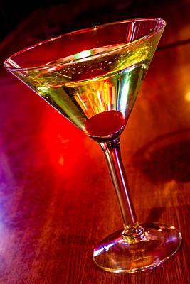 Martini At The Local Pub Original by Teri Virbickis