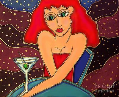 Martini Dreams Print by Cynthia Snyder