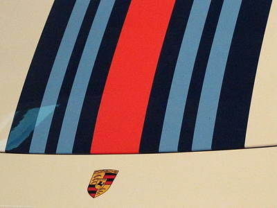 Martini Photograph - Martini Porsche by Kelly Mezzapelle