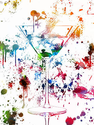 Liquor Mixed Media - Martini Watercolor  by Dan Sproul