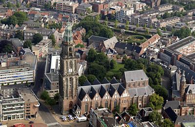 Oblique Photograph - Martinitoren, Groningen by Bram van de Biezen
