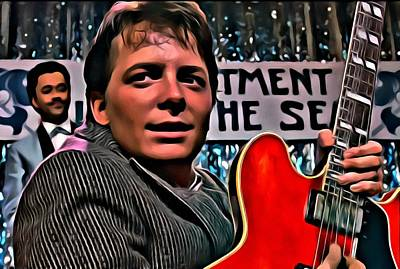 Hollywood Painting - Marty Mcfly by Florian Rodarte