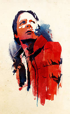 Science Fiction Mixed Media - Marty Mcfly by Robert Farkas