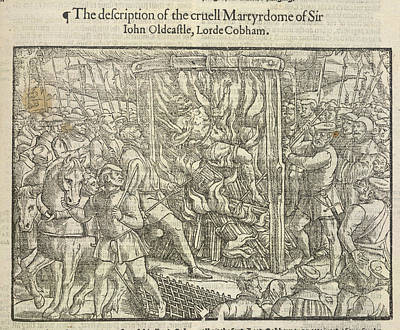 Martyrdom Of Sir John Oldcastle Print by British Library