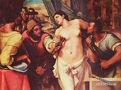 Martyrdom Painting - Martyrdom Of St Agatha by Pg Reproductions