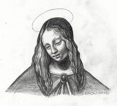 Mary After Davinci Original by Genevieve Esson