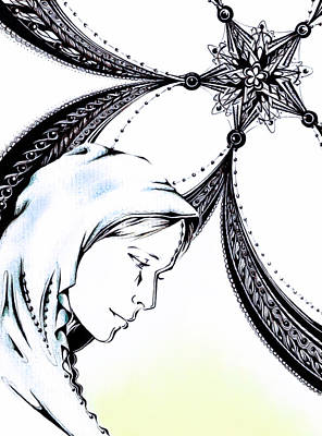 Tear Drawing - Mary by Andrea Carroll