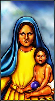 Spiritual Painting - Mary by Carmen Cordova