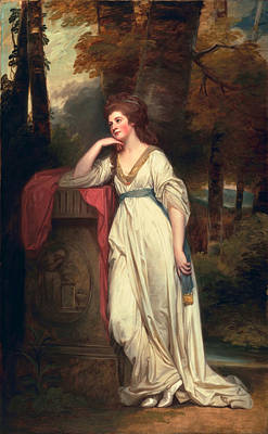 Contemplative Painting - Mary, Lady Beauchamp-proctor, C.1782-88 by George Romney