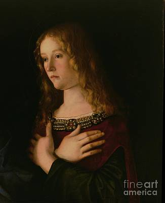 Mary Magdalene Print by Giovanni Bellini