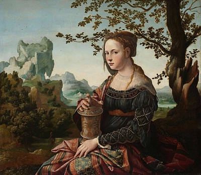 Mary Magdalene Painting - Mary Magdalene by Jan van Scorel