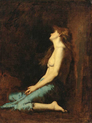 Mary Magdalene Painting - Mary Magdalene by Jean-Jacques Henner