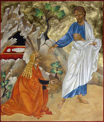 Egg Tempera Painting - Mary Magdalene by Mary jane Miller