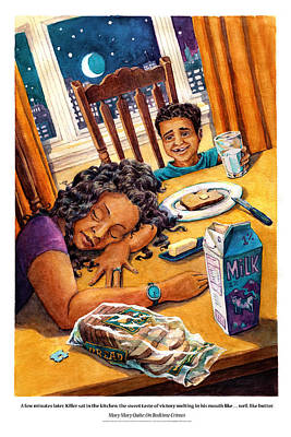 Bright Watercolor Portrait Bright Watercolor Painting - Mary Mary Quite On Bedtime Crimes by David Condry